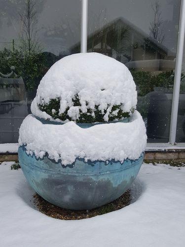 fiberglass planter / round / contemporary