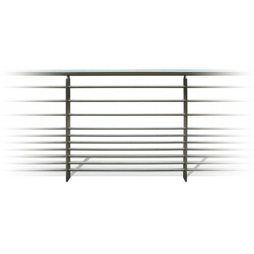stainless steel railing / bar / outdoor / for stairs