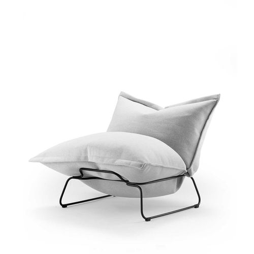 contemporary fireside chair / fabric / steel / contract