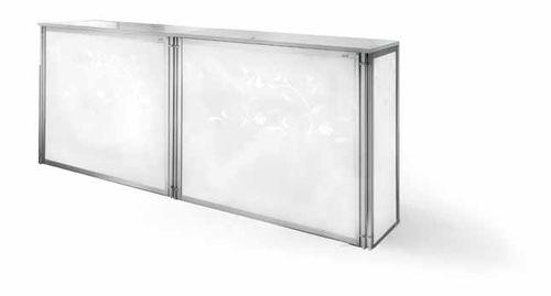 kitchen counter / metal / upright / modular