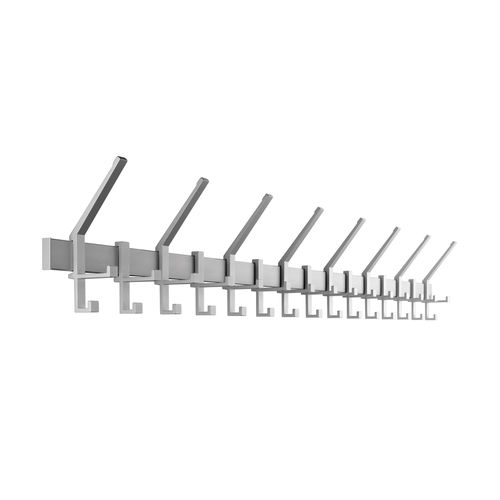 wall-mounted coat rack / contemporary / metal / commercial