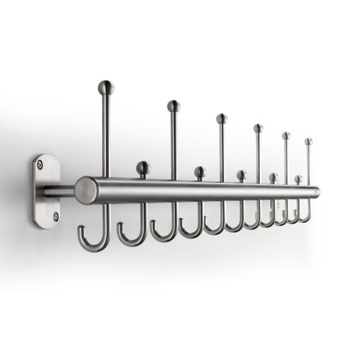 Wall-mounted coat rack / contemporary / stainless steel / commercial FINO rosconi