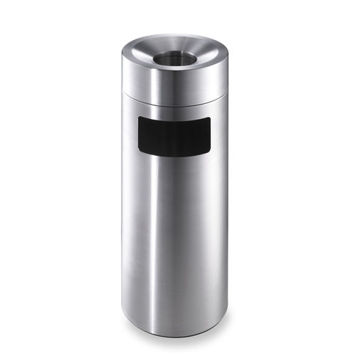 Public trash can / stainless steel / with built-in ashtray / contemporary CREW 27 | CREW 28 rosconi