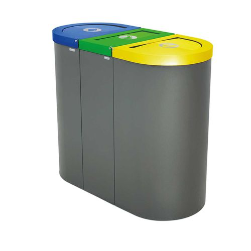 Steel trash can / contemporary / with built-in ashtray NICE rosconi
