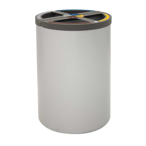 Steel trash can / contemporary / with built-in ashtray MADRID rosconi