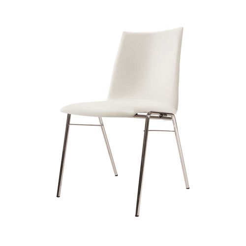 contemporary visitor chair / stackable / laminate