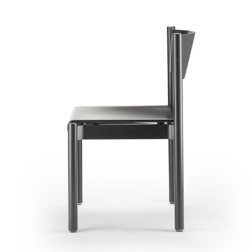 contemporary armchair / wood veneer / commercial