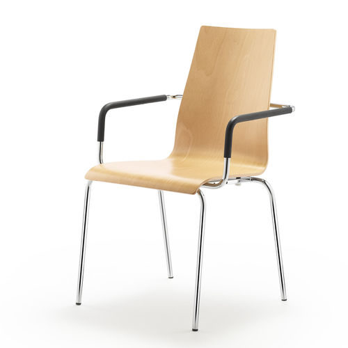 contemporary armchair / laminate / commercial