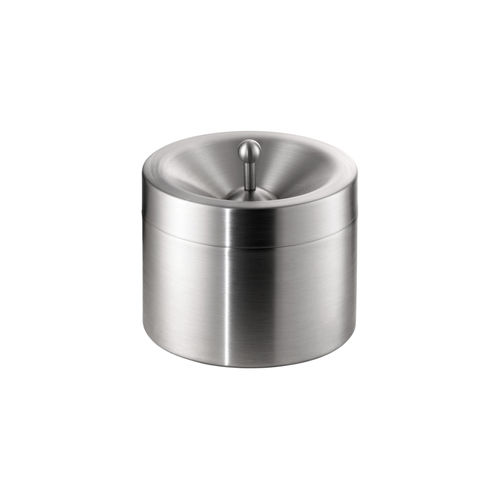 pedestal ashtray / stainless steel / for outdoor use / for domestic use