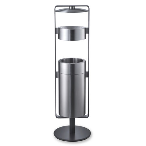 Public trash can / stainless steel / with built-in ashtray / contemporary CREW 02 rosconi