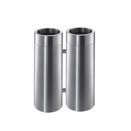 Public trash can / stainless steel / contemporary CREW 4X rosconi