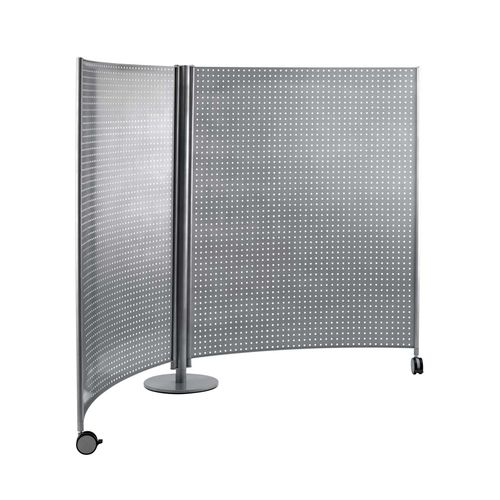contemporary screen / stainless steel / for public buildings