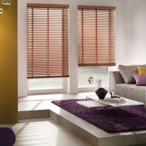 Venetian blinds / wooden / chain-operated / custom