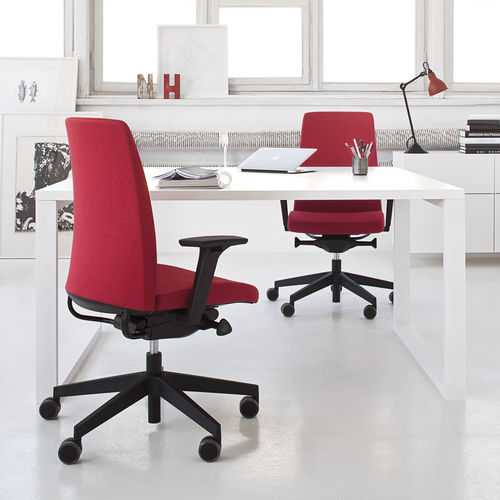 Contemporary office armchair / fabric / aluminium / adjustable-height MOTTO Profim