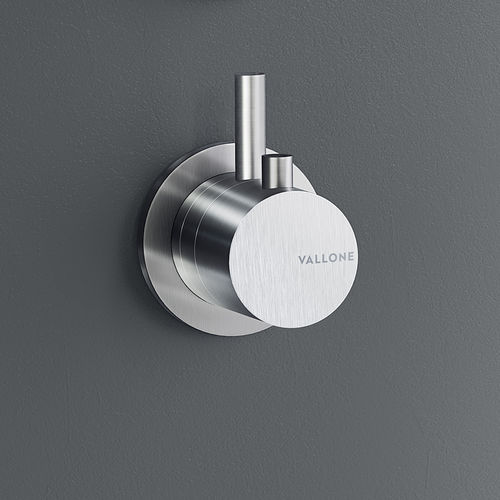 shower mixer tap / for bathtubs / wall-mounted / stainless steel