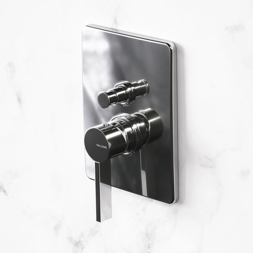 shower mixer tap / for bathtubs / wall-mounted / brass