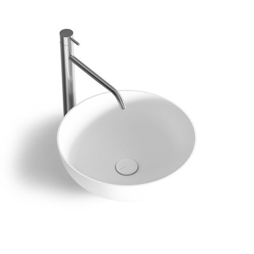 countertop washbasin / round / Solid Surface / resin