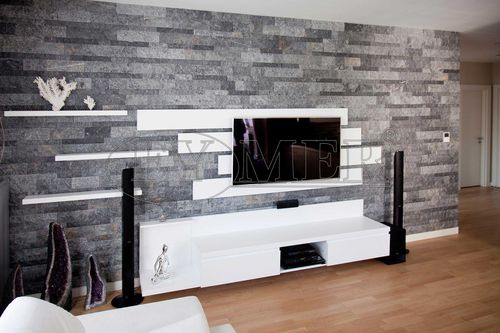 marble wall cladding / indoor / stone look / decorative