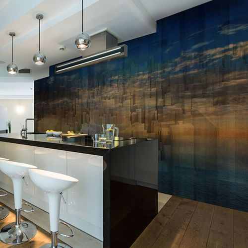 contemporary wallpaper / vinyl / urban motif / panoramic
