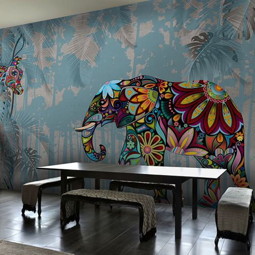 Contemporary wallpaper / vinyl / floral / nature pattern COLORING Neodko