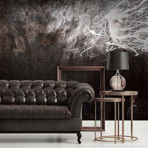 Contemporary wallpaper / vinyl / urban motif / art print EVOLUTION Neodko