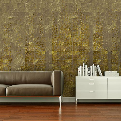 contemporary wallpaper / vinyl / patterned / 3D effect
