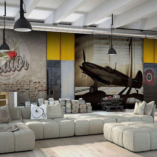 Industrial style wallpaper / vinyl / urban motif / panoramic HURRICANE Neodko
