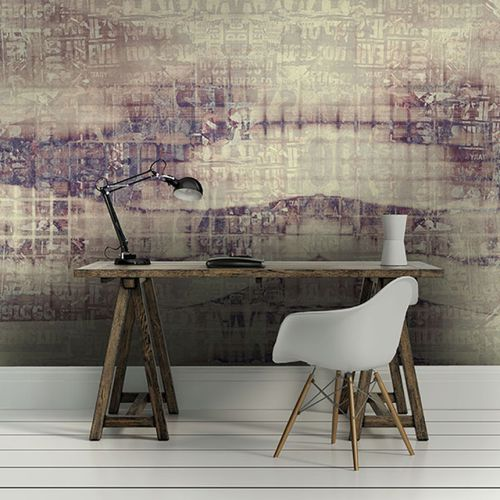 Contemporary wallpaper / vinyl / floral / geometric LETTERS Neodko