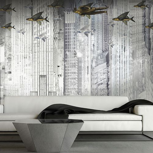 Original design wallpaper / vinyl / animal motif / geometric THE FLYING COMPANY Neodko