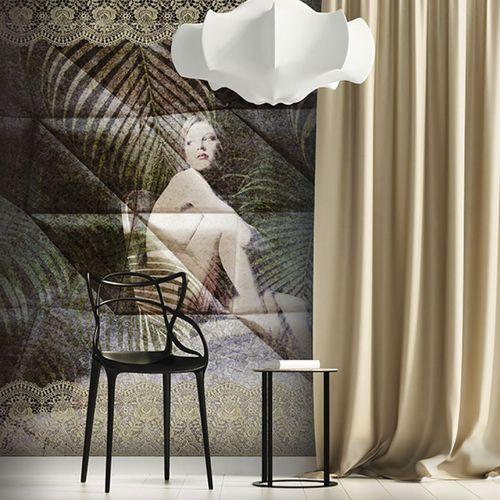 Art Nouveau style wallpaper / vinyl / floral motif / nature pattern