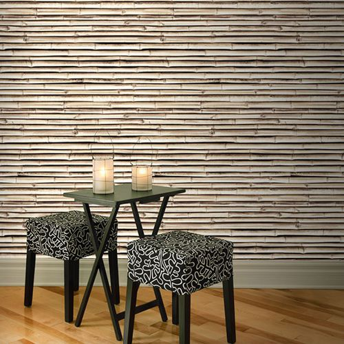Contemporary wallpaper / vinyl / floral / nature pattern BAMBOO HORIZON NATUREL Neodko