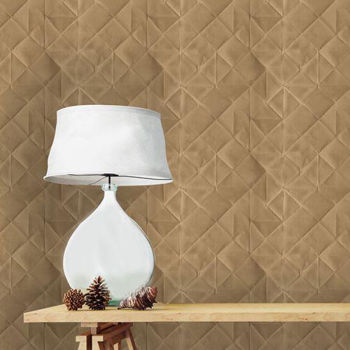 contemporary wallpaper / vinyl / geometric pattern / tufted