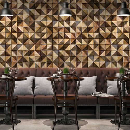 Contemporary wallpaper / vinyl / floral motif / nature pattern DIAMOND WOOD Neodko
