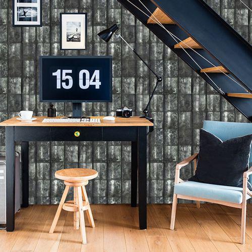 Industrial style wallpaper / vinyl / panoramic / plaid METAL BOX Neodko