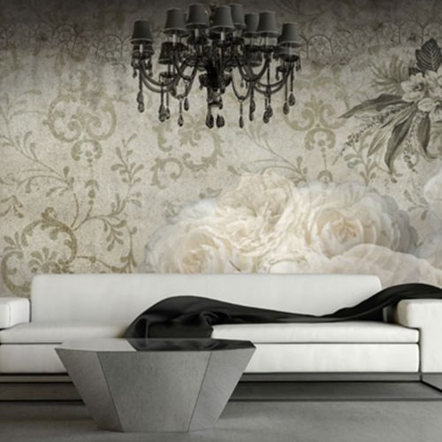 traditional wallpaper / vinyl / floral / nature pattern