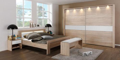 contemporary wardrobe / wooden / sliding door / with swing doors