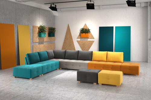 modular sofa / contemporary / fabric / 7-seater and up