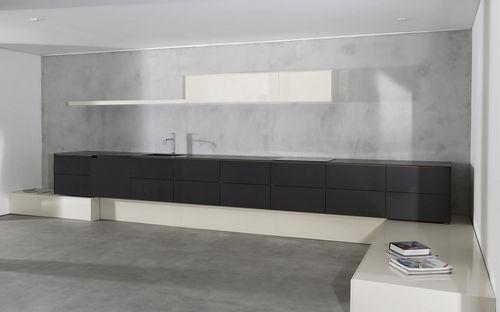 contemporary kitchen / composite / modular / lacquered