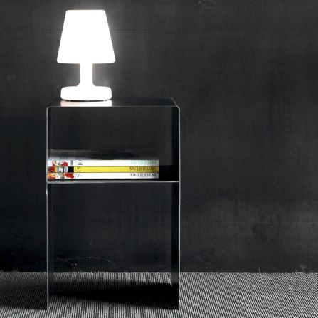 contemporary bedside table / metal / rectangular / commercial