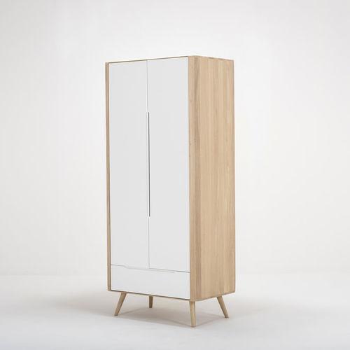 contemporary wardrobe / oak / MDF / with swing doors