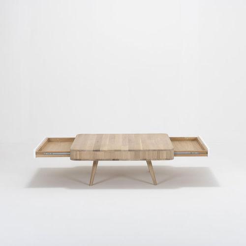 contemporary coffee table / oak / MDF / rectangular