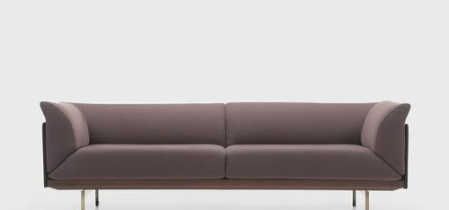 contemporary sofa / leather / wood / by Christophe Pillet