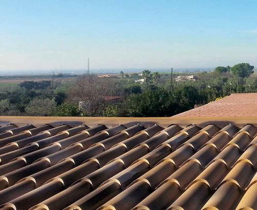 roof sandwich panel / 2 galvanized steel faces / polyurethane foam core / fire-retardant