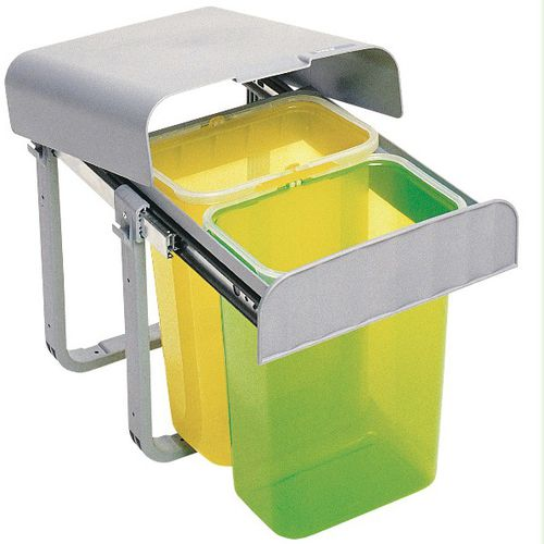 kitchen trash can / built-in / plastic / contemporary