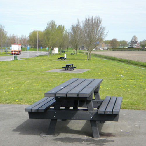 contemporary picnic table / recycled plastic / rectangular / square