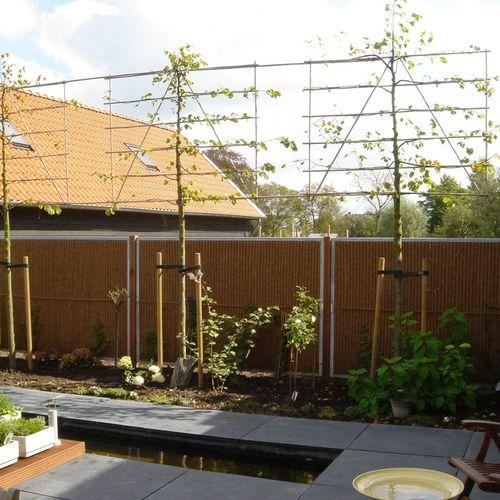 garden fence / with panels / coconut / modular