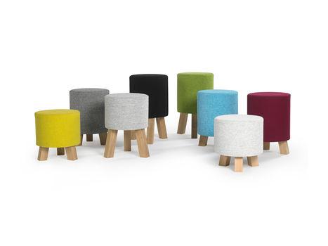 oak office stool - Benthansen