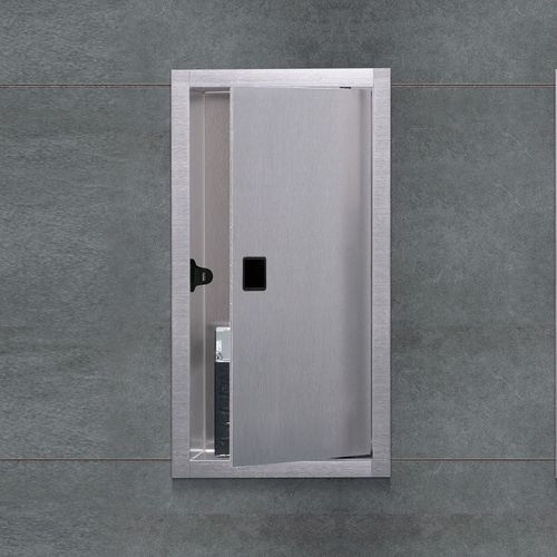 contemporary bathroom cabinet / stainless steel / wall-mounted