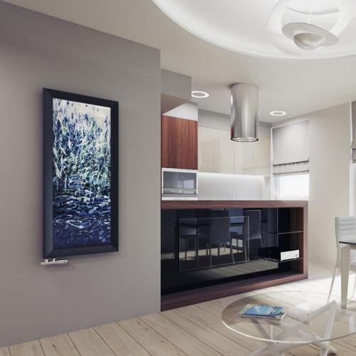 hot water radiator / glass / contemporary / rectangular