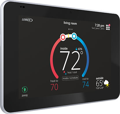 programmable thermostat / wall-mounted / for heating / with touchscreen